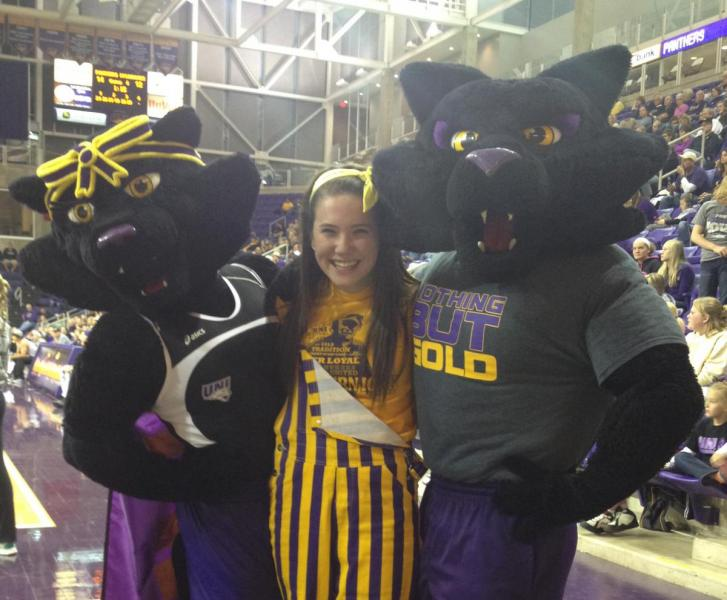 Bailee with mascots